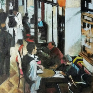 Waiters in a French Cafe