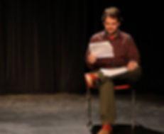 John Patrick Bray reading stage direction