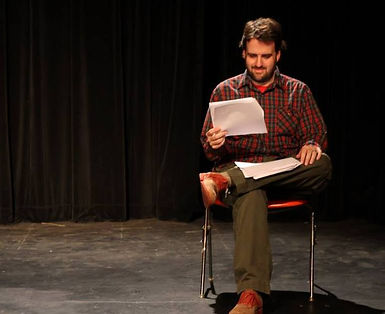 John Patrick Bray reading stage direction
