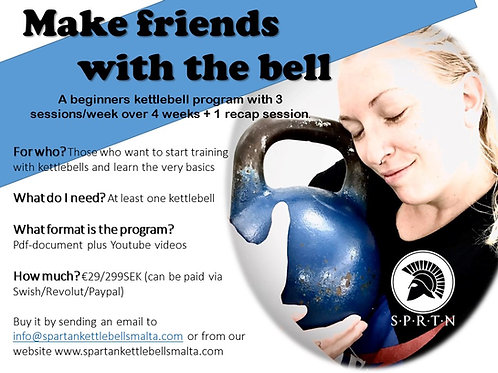 Make friends with the bell - Beginners kettlebell program