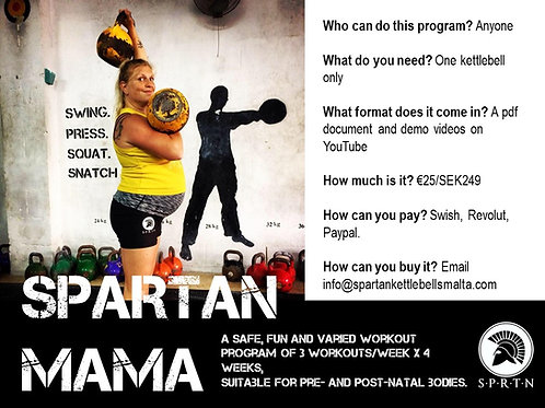 Spartan MAMA - Pre and post natal program