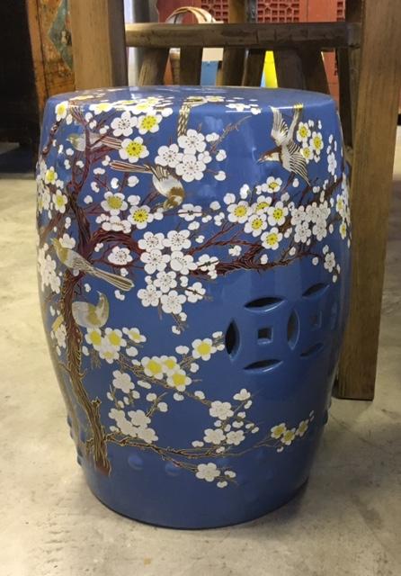 Hand-Painted Chinese Ceramic Stool