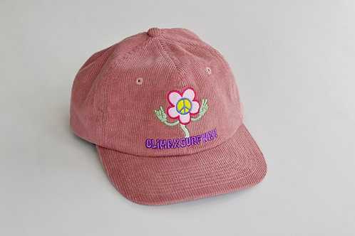 PEACEFUL FLOWER CORDUROY HAT
