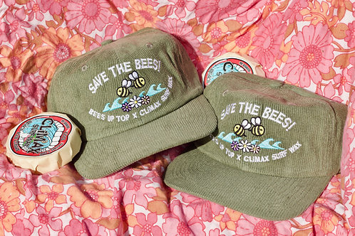 CLIMAX X BEES UP TOP CORDUROY HAT