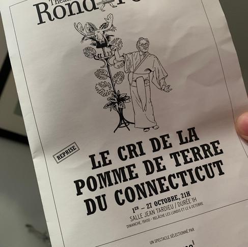 LE CRI DE LA POMME DE TERRE DU CONNECTICUT. Théâtre du rond point