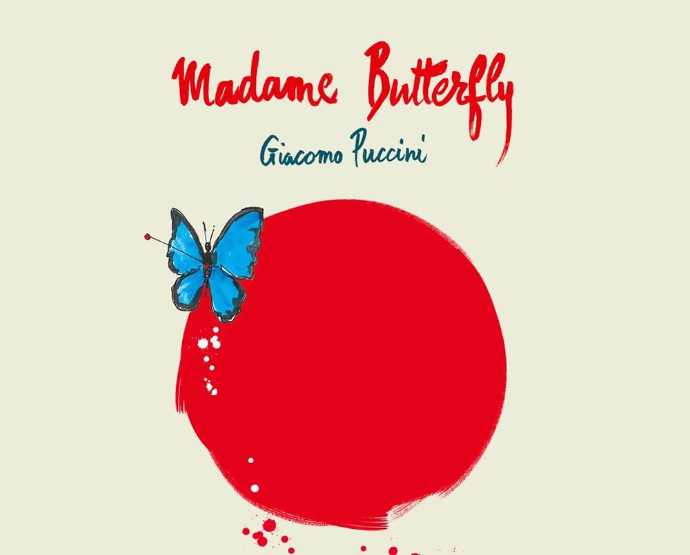 affiche edition 2021 opera en plein air, madame butterfly