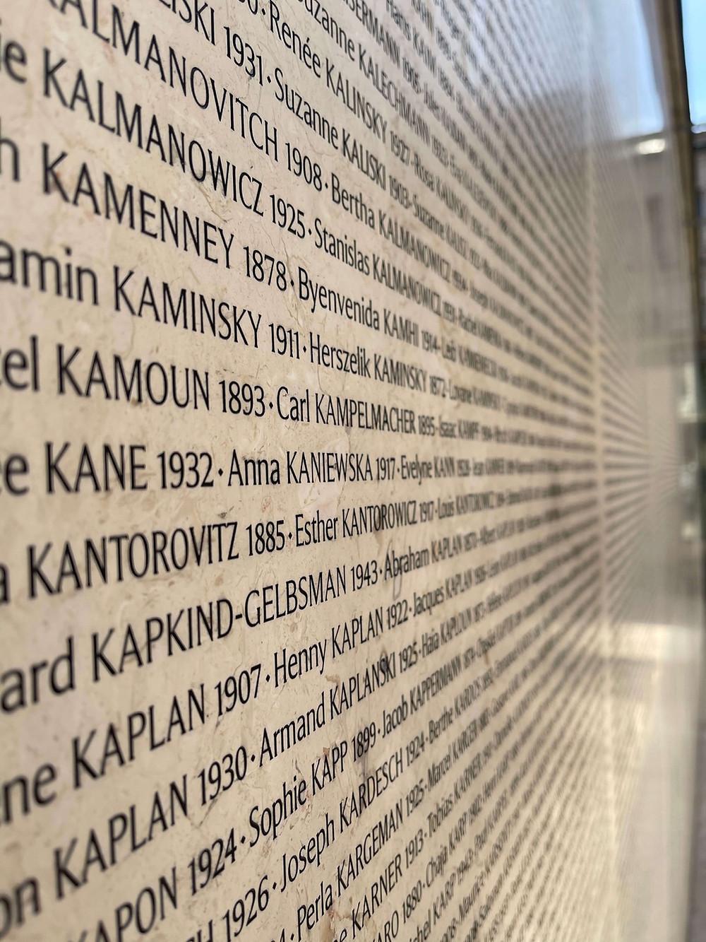 murs des noms