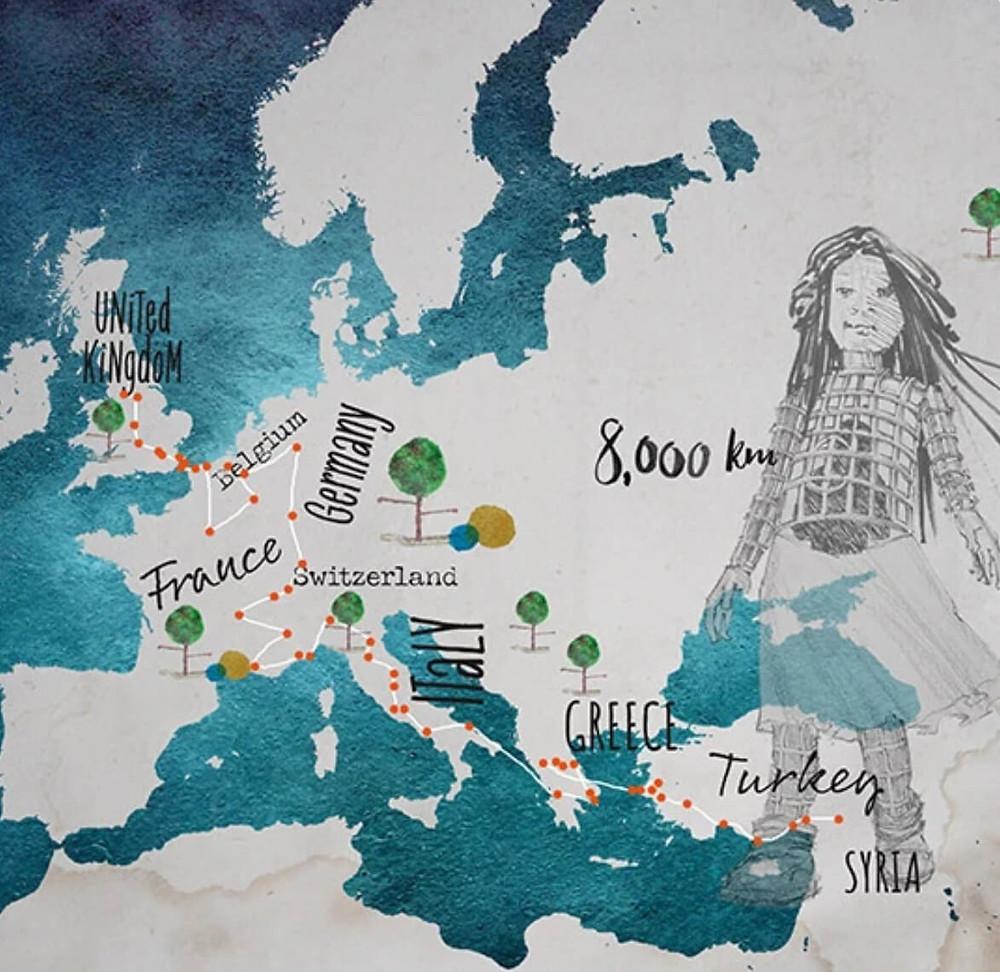 Plan de la marche d'Amal