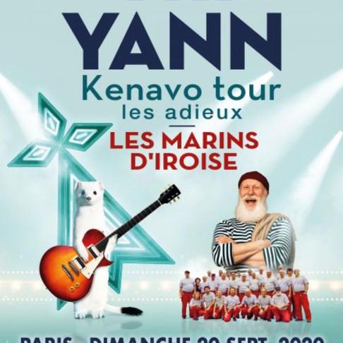 TRI YANN. KENAVO TOUR. Tous au Dôme de Paris pour fêter les adieux !