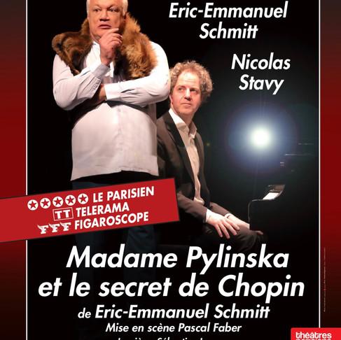 🅵🅵🅵Madame Pylinska et le secret de Chopin. Exceptionnel au Théâtre Rive Gauche