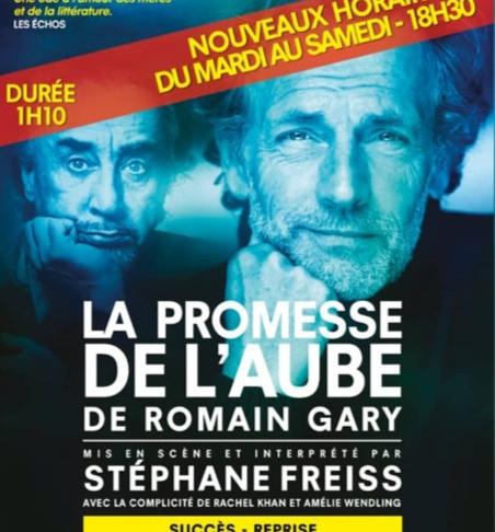 🅵🅵🅵🅵La promesse de l'Aube. Lecture de Stéphane Freiss. Poche Montparnasse. Nouveaux horaires