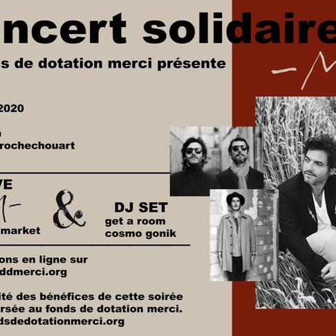M en Concert Unique et Solidaire pour les 10 ans du Fonds de dotation MERCI. Le Trianon