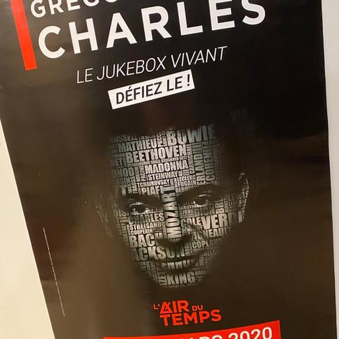 GREGORY CHARLES. L'Air du Temps à l'Européen les 09 et 10 mars 2020.