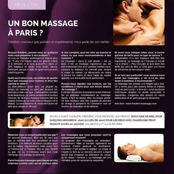 article de presse massage paris