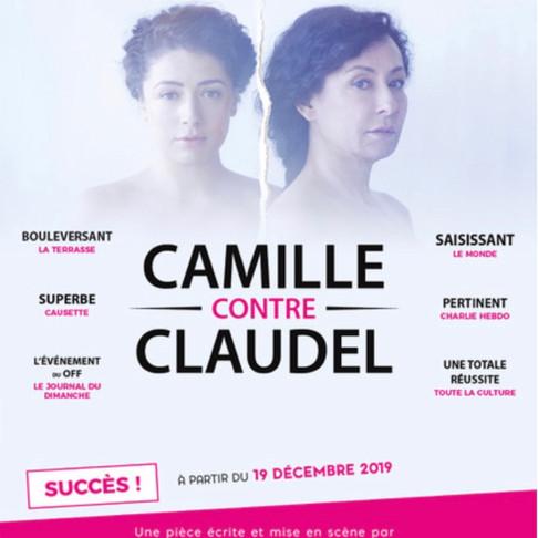 Fou de théâtre et le Théâtre Lepic fête Noël en beauté. Camille contre Claudel. Magnifique