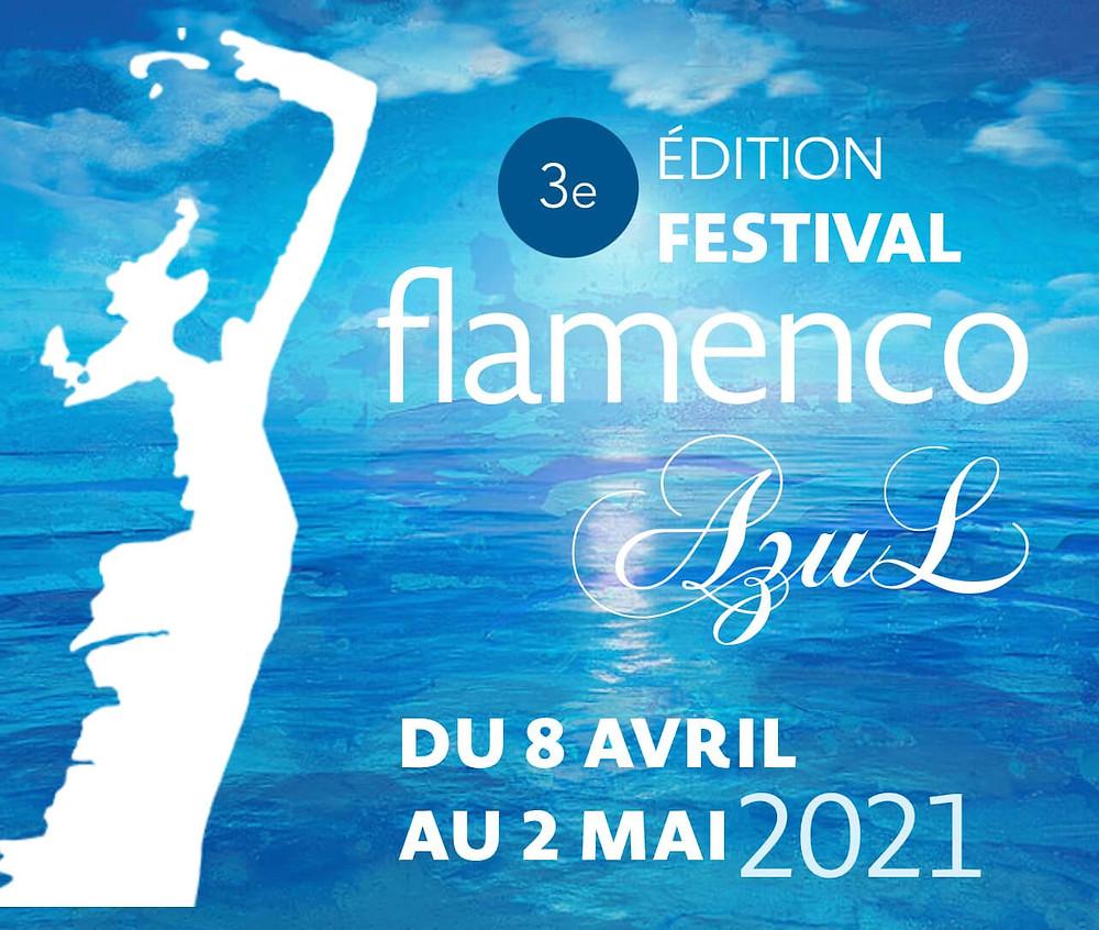 affiche flamenco azul