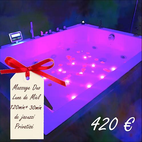 Chèque Cadeau Massage Duo lune de miel 120 min