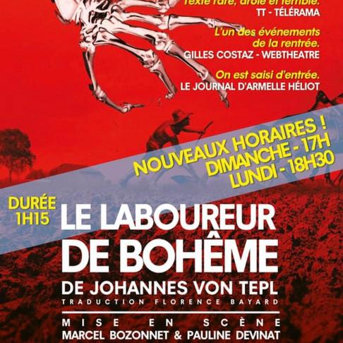 🅵🅵🅵Le Laboureur de Bohème. Dispute à la vie, à la mort. Poche Montparnasse. Nouveaux Horaires