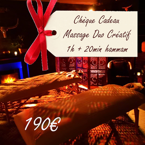 Chèque Cadeau Massage Duo Créatif 1h + 20 min Hammam