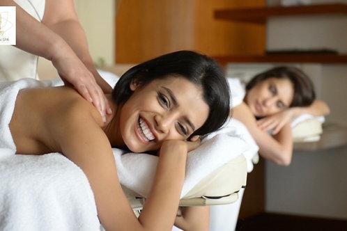 Massage DUO Lune de miel à la bougie aromatique tiède (à partir d'1h)