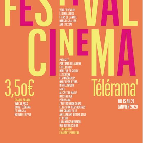 FESTIVAL CINÉMA TÉLÉRAMA. Du 15 au 21 janvier 2020
