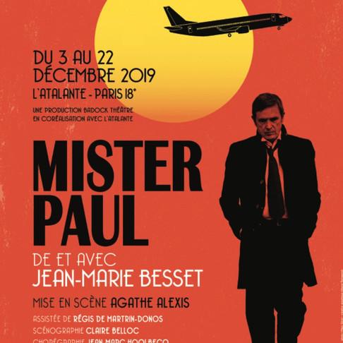 Mister Paul. Reprise au Théâtre de l'Atalante
