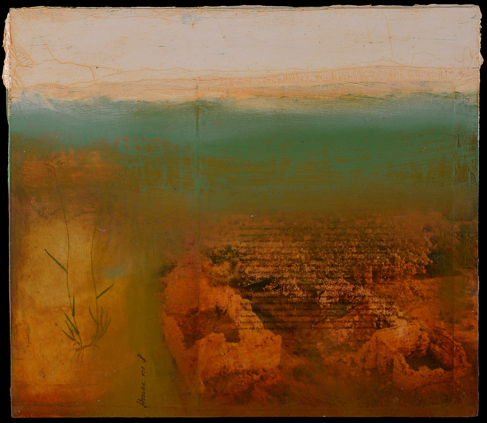 The mixed media work is part of a collaborative project with poet Simon Armitage