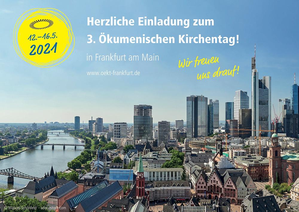 Bild mit Einladung zum 3.Ökumenischen Kirchentag 2021 in Dortmund