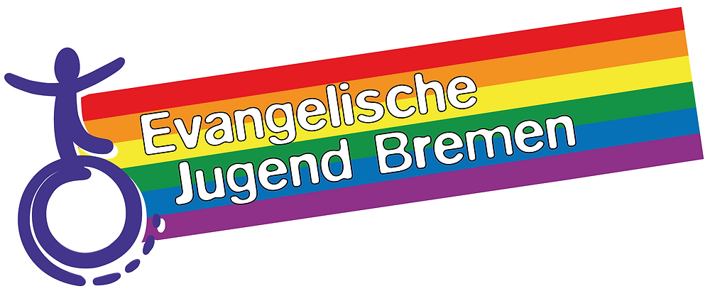 Das Logo der Evangelischen Jugend Bremen für den CSD