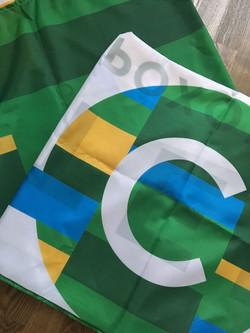 Печать флагов.