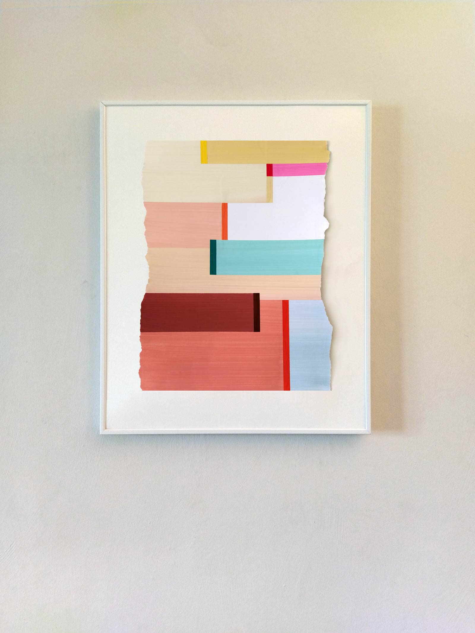 Collage de papier gouaché