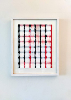 Collage de papier gouaché et acrylique