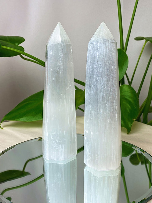 Selenite Tower polished point | large