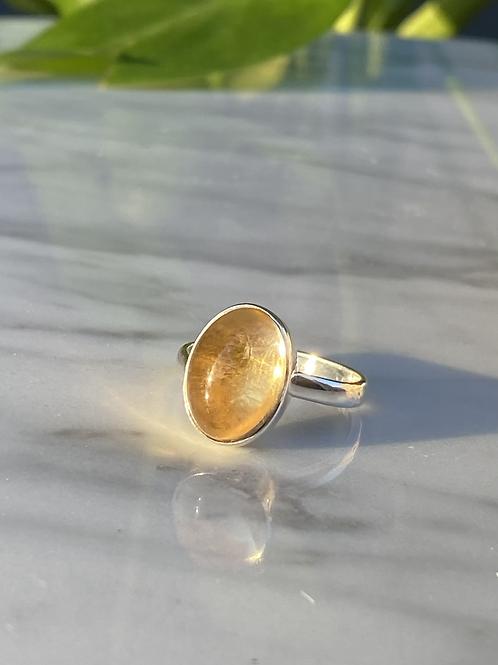 Citrine Ring in Silver 925