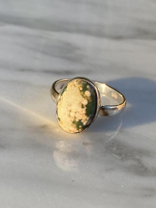 Ocean Jasper Ring in Silver 925