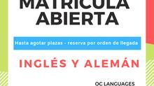 ABRIMOS MATRÍCULA PARA EL CURSO ESCOLAR 2019-20