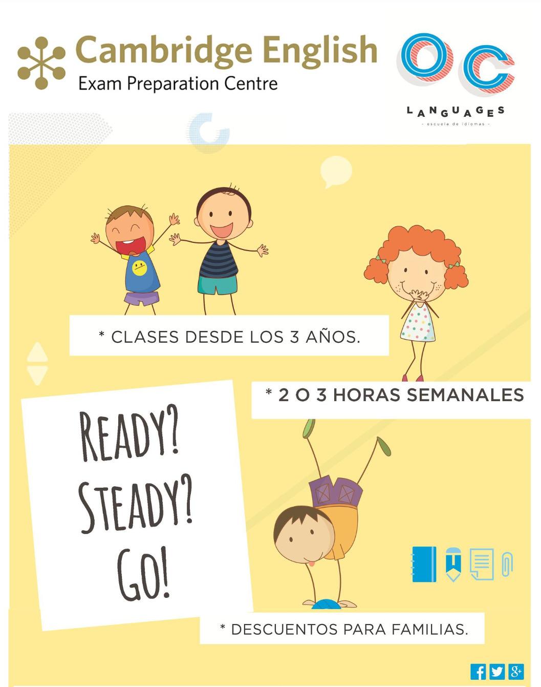 Inglés para niños desde los 3 años.