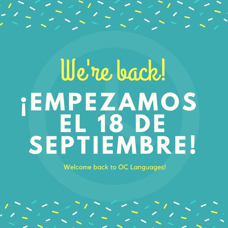 Hello everyone! Estamos muuuy contentos de estar de vuelta y con muchísimas ganas de veros de nuevo! Empezamos con las clases para niños y adolescentes el próximo día 18 de Septiembre ¡Os esperamos!