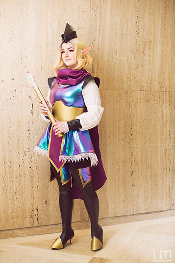 Seraph Cosplay Magical Girl Costume with Yaya Han Cosplay Fabrics Oil Slick Fabric