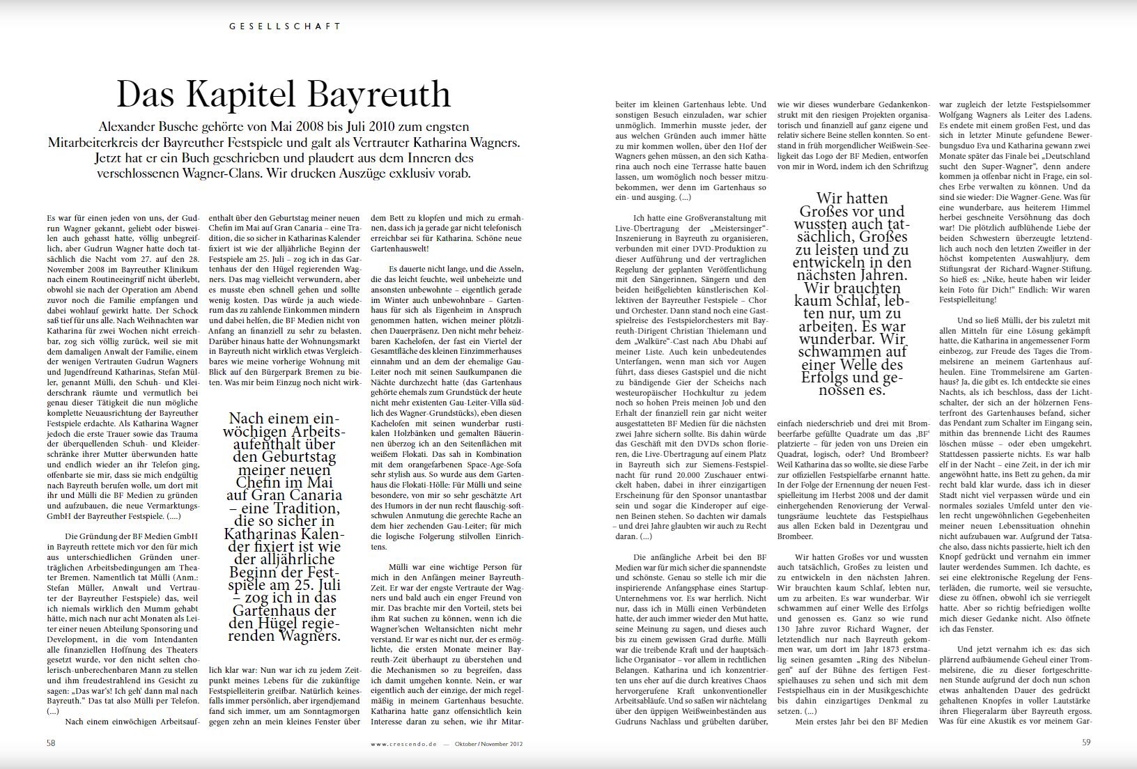 Das Kapitel Bayreuth