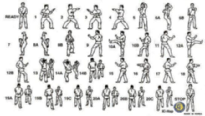 Taegeuk 4 poomsae pattern diagram