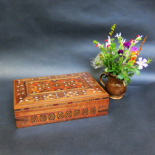 Medium Rectangular Mosaic Jewelry Box