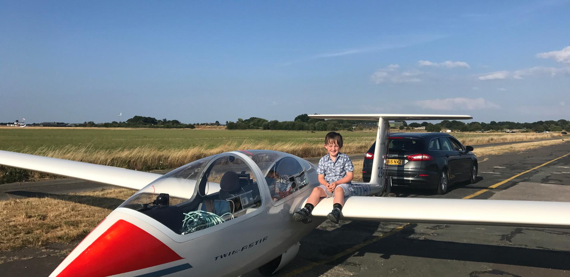 Summer evening flying