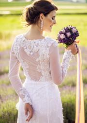 Lawendowy bukiet ślubny