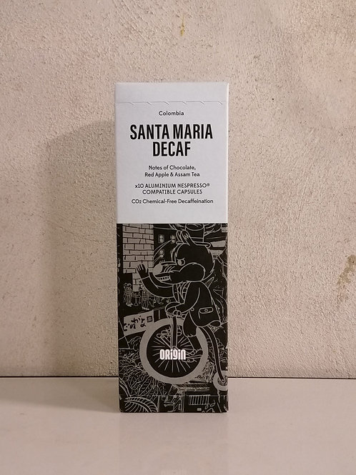 10 Capsule Deca Santa Maria - Origin Coffee Roaster