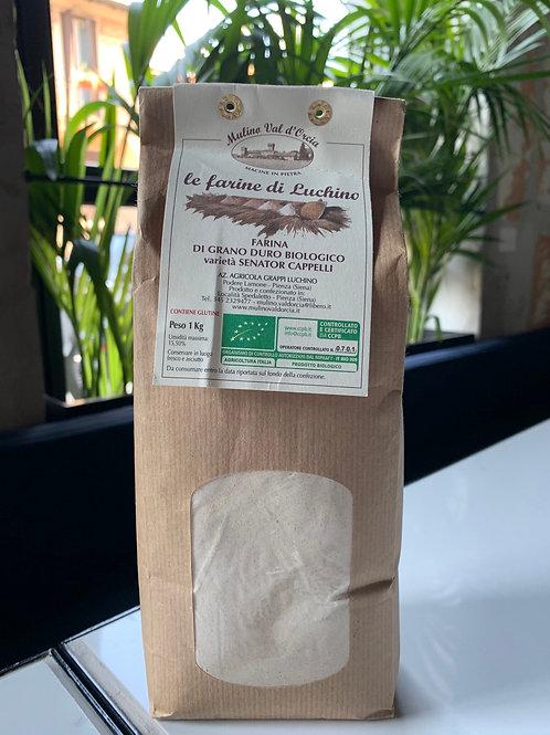 Farina di grano duro biologico Senator Cappelli - Mulino val d'Orcia