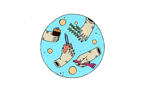 Insalata di seppie, sedano croccante e uvette
