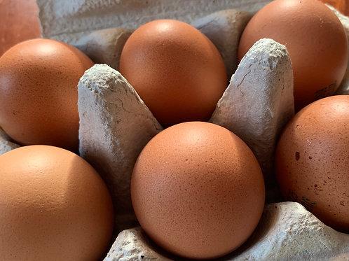 Uova bianche allevamento all'aperto  semi di lino cat. A Le Camille 6 pz
