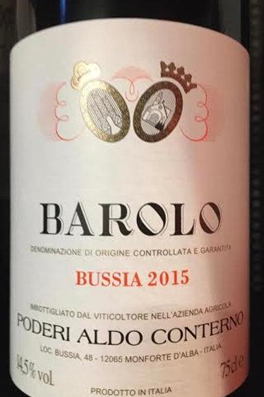 Barolo Bussia 2015 -Poderi Aldo Conterno