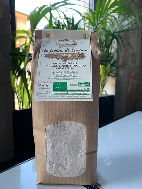 Farina di grano tenero integrale 1kg biologica  - Mulino Val d'Orcia